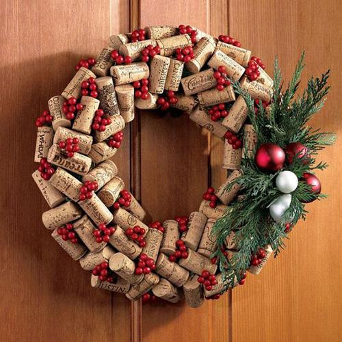 tapon corcho adorno navideño